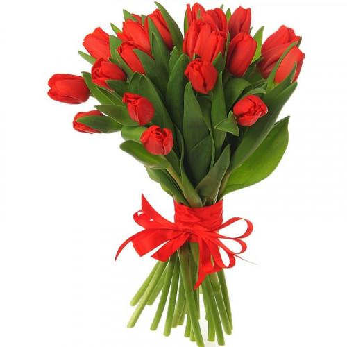Букет из 21 тюльпана