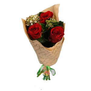 Букет из 3 красных роз
