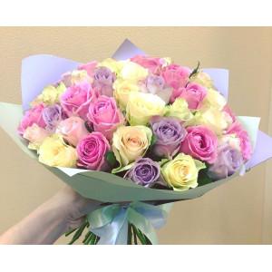 Букет из 35 нежных кенийских роз