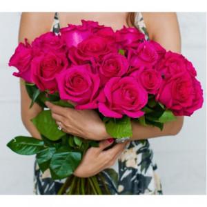 Букет из 25 эквадорских розовых роз