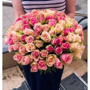 Букет из нежных кенийских роз