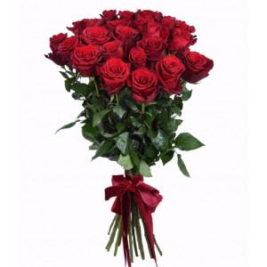 Букет из 21 красной эквадорской  розы