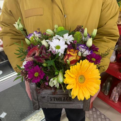 "Композиция в коробке ""Весна"""