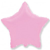 Шар звезда розовый