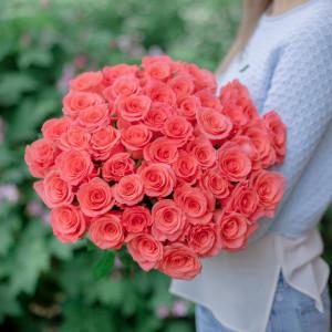 Букет из 55 эквадорских  роз